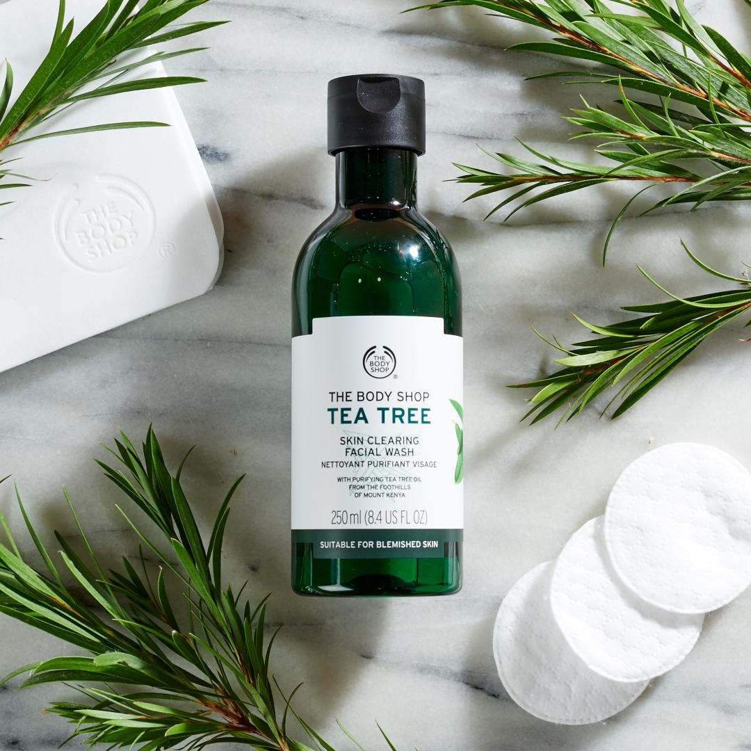 The Body Shop Tea Tree Skin Clearing Body Wash.